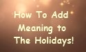 meaning to holidays